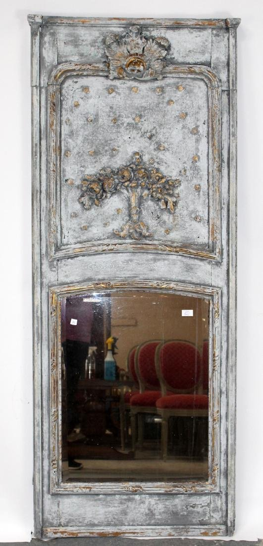 French Regency painted trumeau mirror