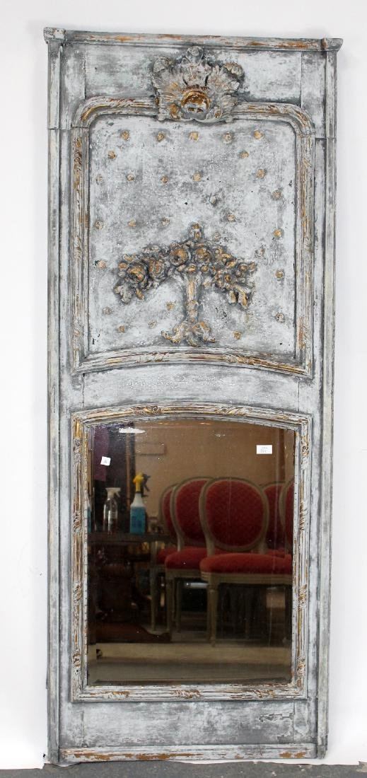 French Regency painted trumeau mirror - 3