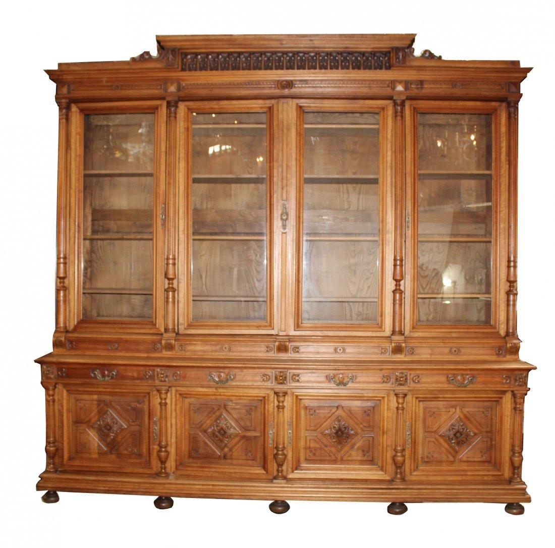 Grand scale French Renaissance bookcase