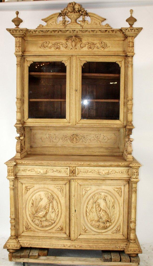French Louis XIII buffet in carved oak