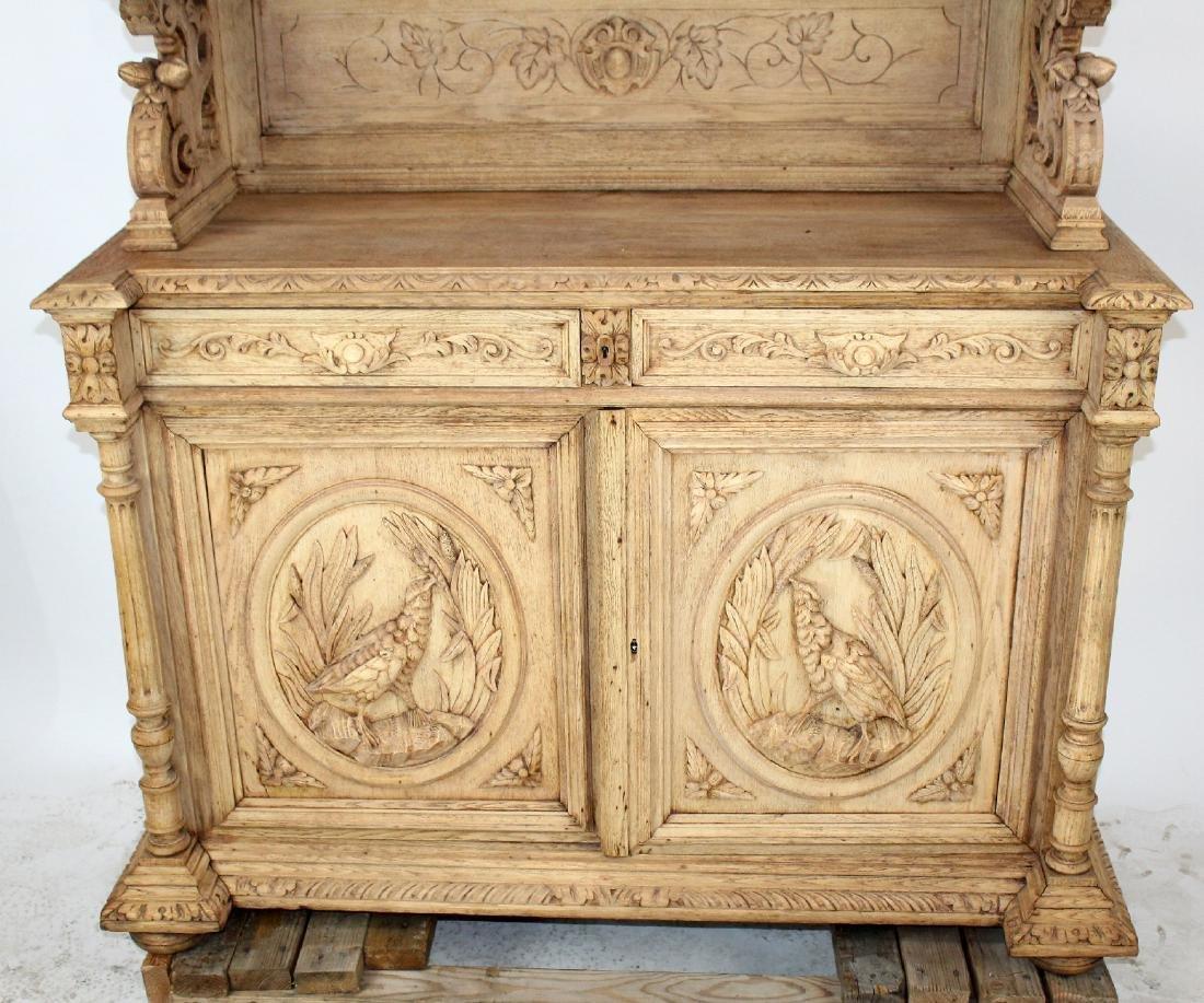 French Louis XIII buffet in carved oak - 4