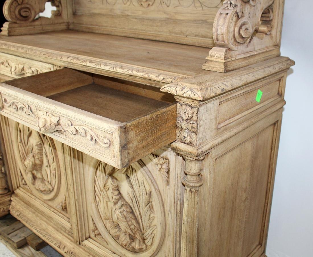 French Louis XIII buffet in carved oak - 6