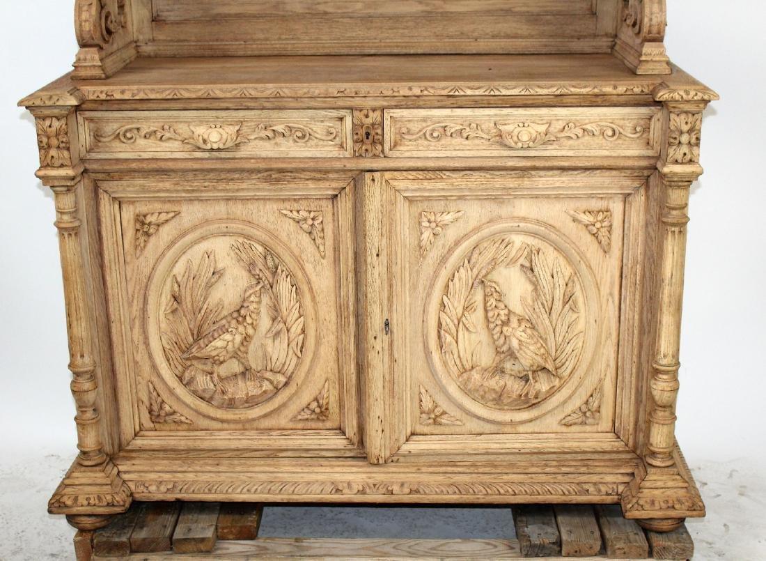 French Louis XIII buffet in carved oak - 9