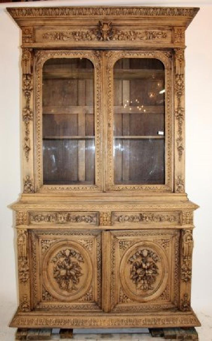 French Louis XIII heavily carved buffet