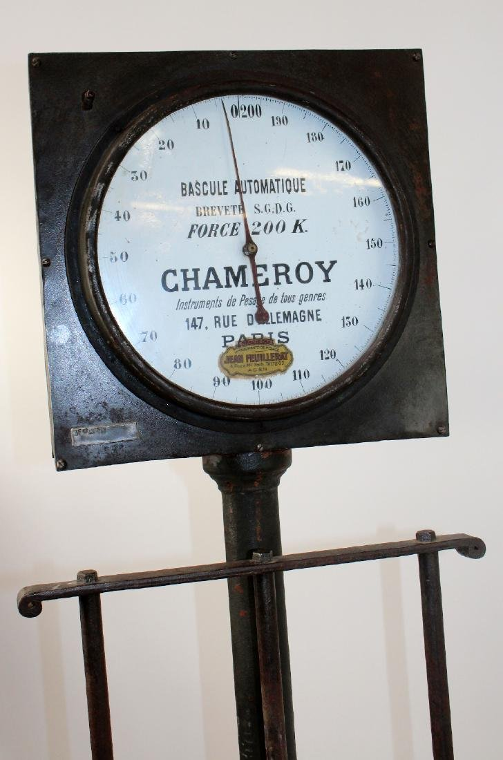 French Industrial cast iron stand up scale - 3