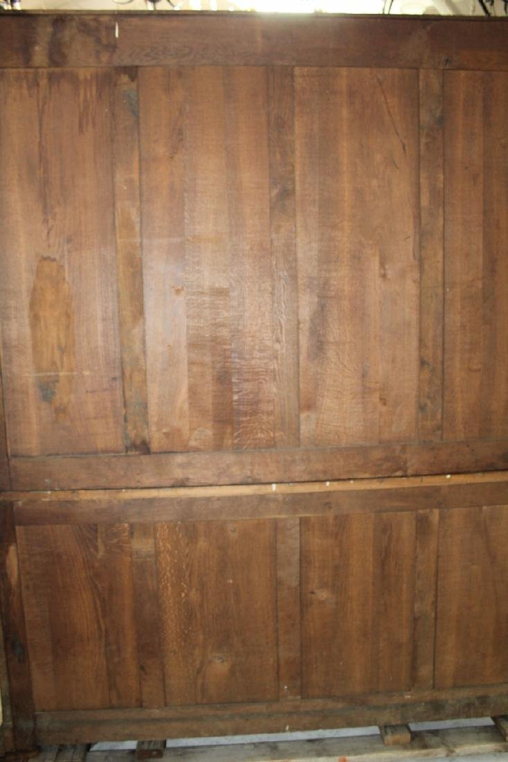 French carved walnut bookcase - 8