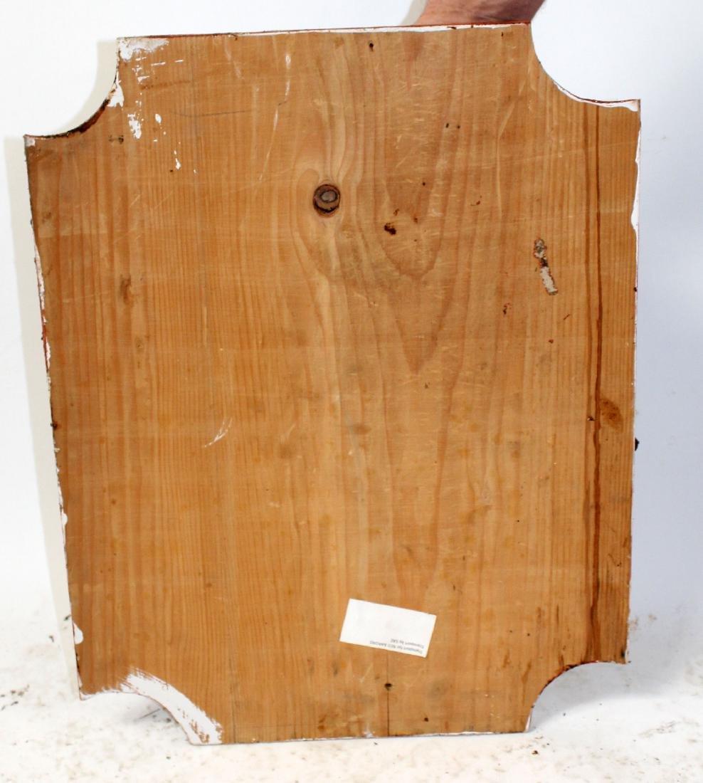 Bronze cherub plaque mounted on board - 2