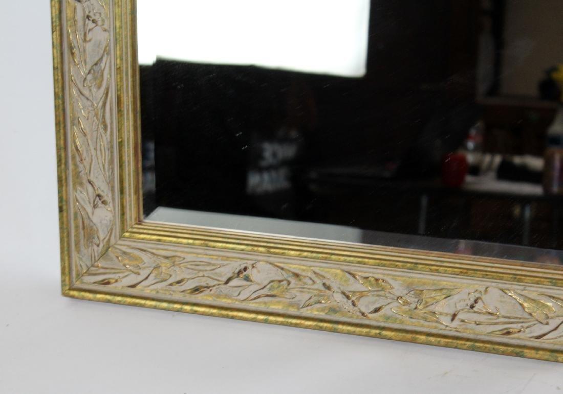 Whitewashed framed beveled mirror - 2