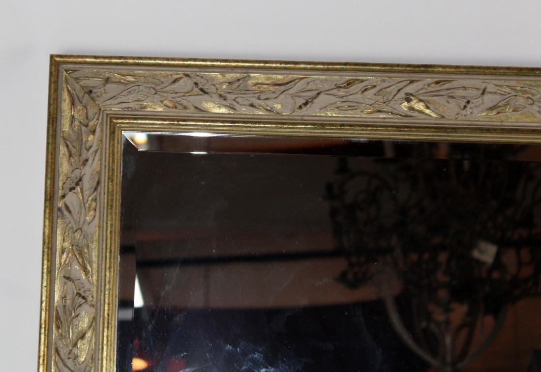Whitewashed framed beveled mirror - 3