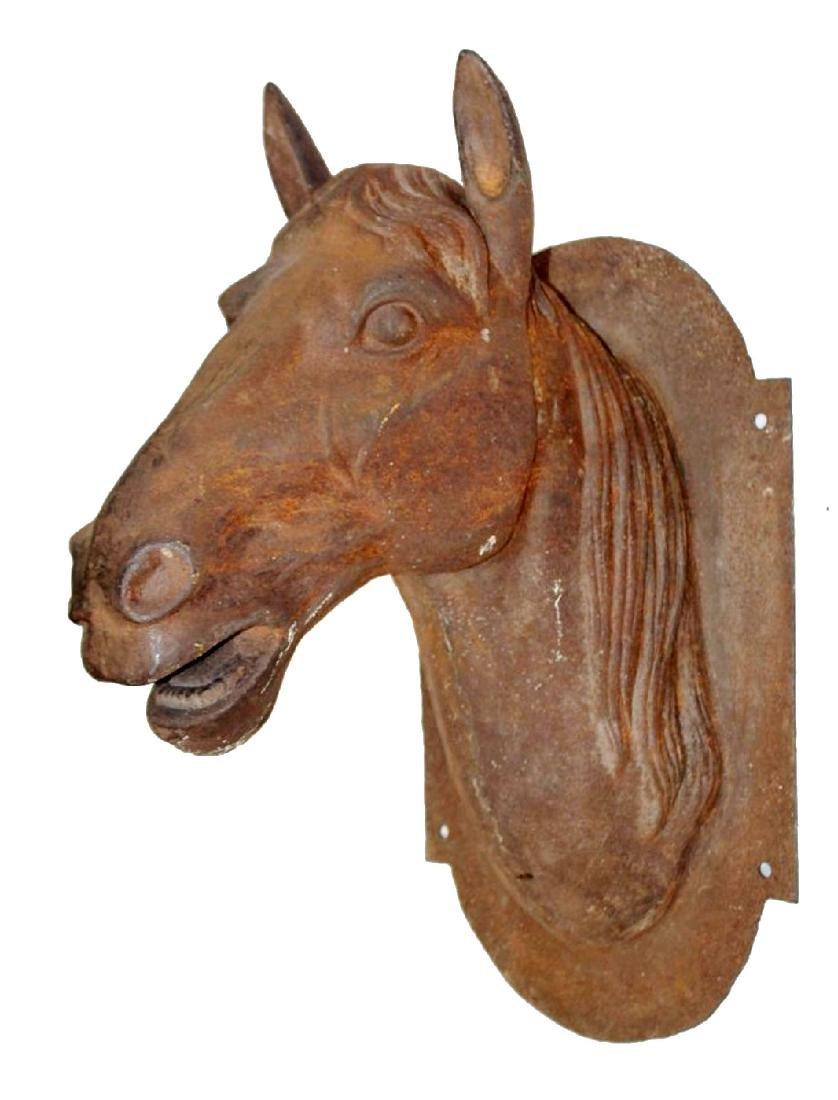 Cast iron wall mount horse head