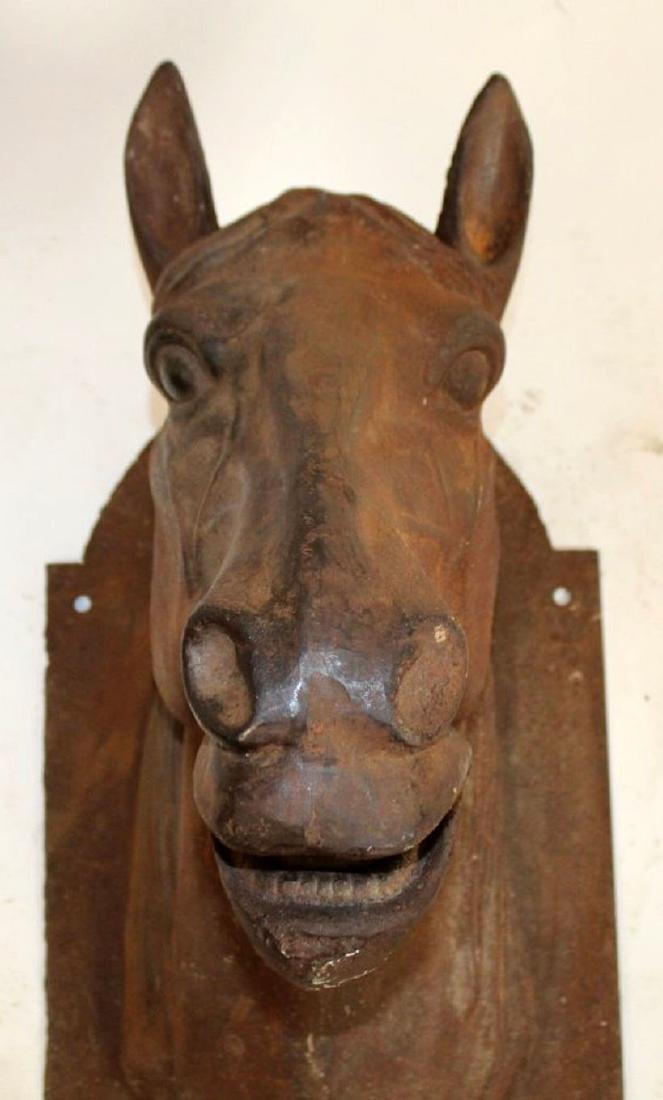 Cast iron wall mount horse head - 2