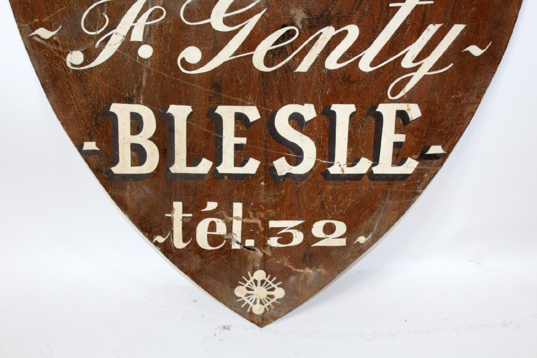 Antique shield form trade sign - 4