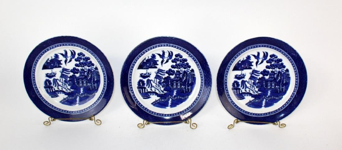Lot of 3 Fenton Blue Willow plates - 4