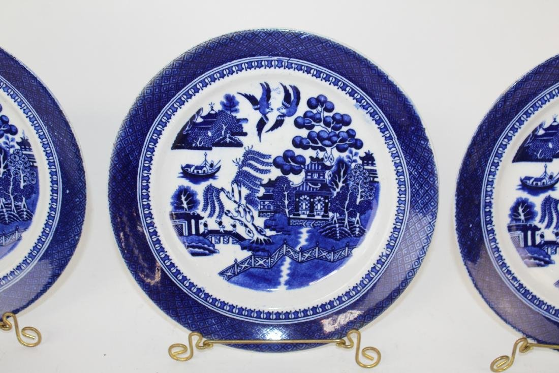 Lot of 3 Fenton Blue Willow plates - 5