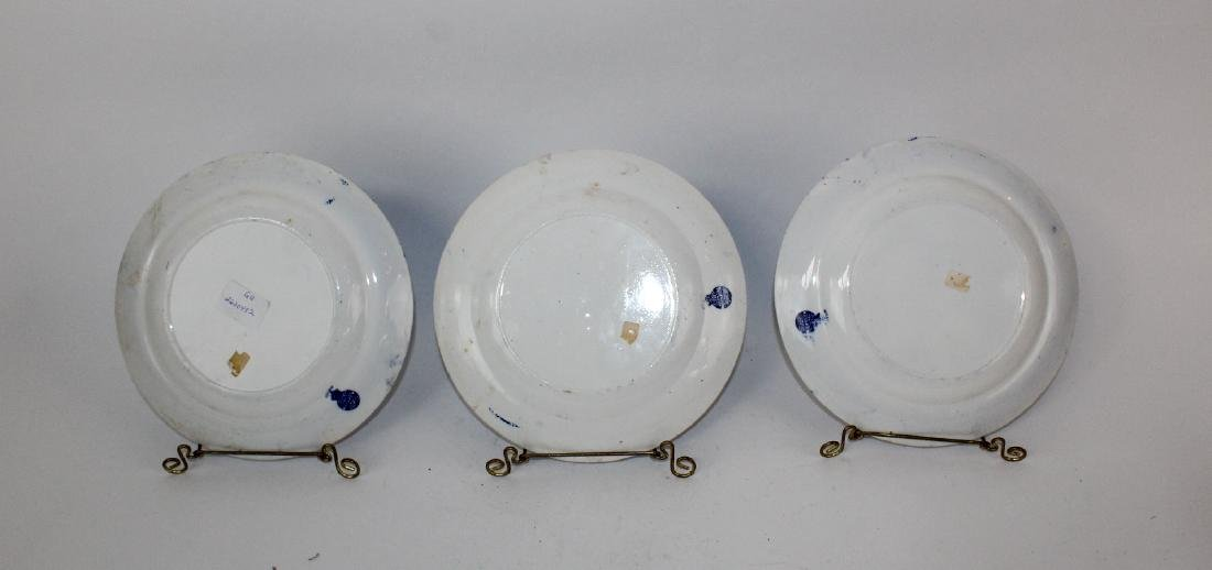 Lot of 3 Fenton Blue Willow plates - 7