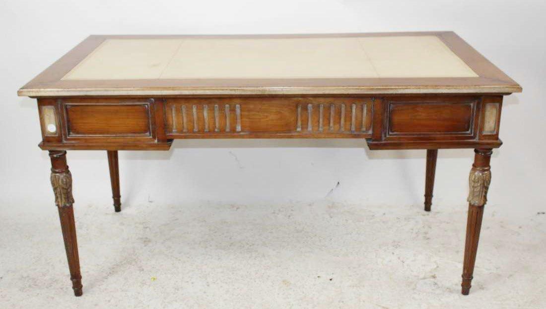 French Heritage Louis XVI style bureauplat desk
