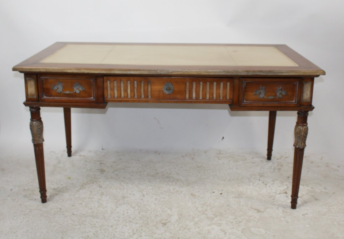 French Heritage Louis XVI style bureauplat desk - 2