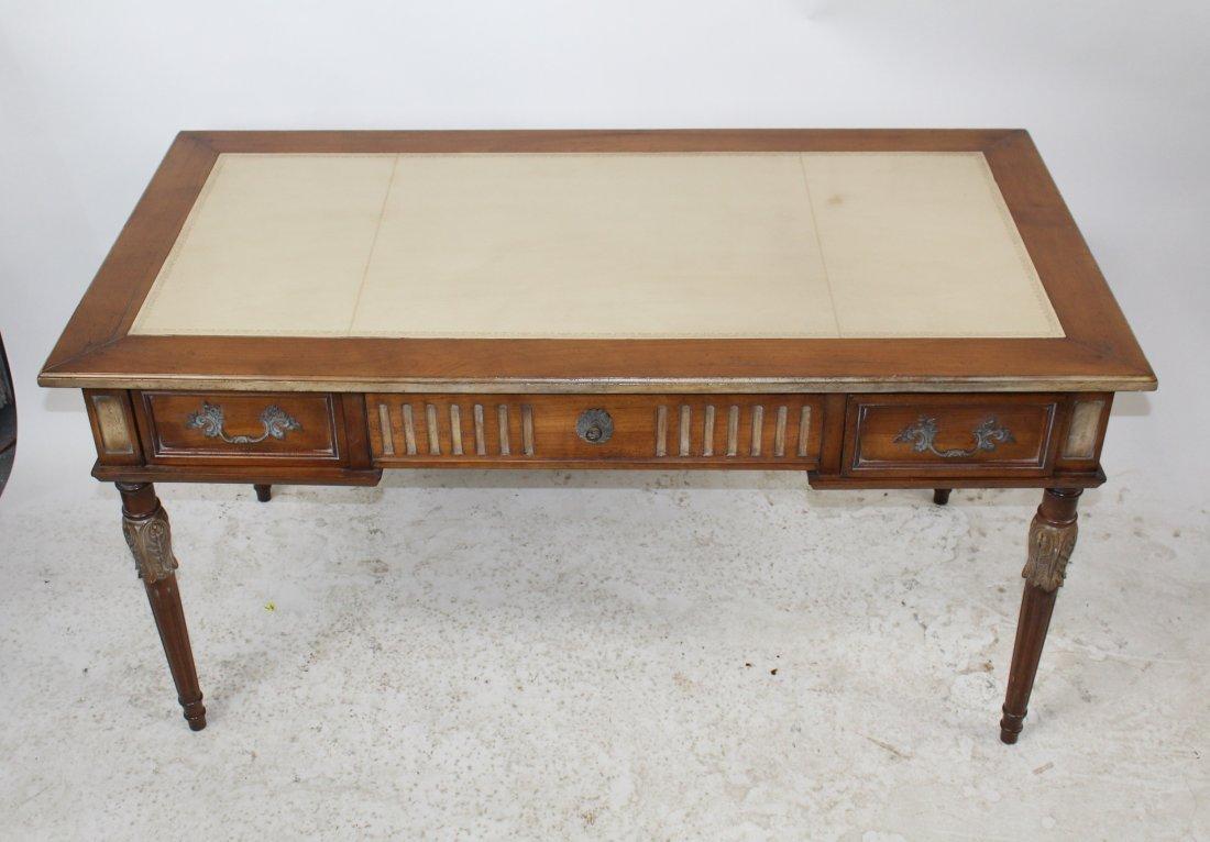 French Heritage Louis XVI style bureauplat desk - 3
