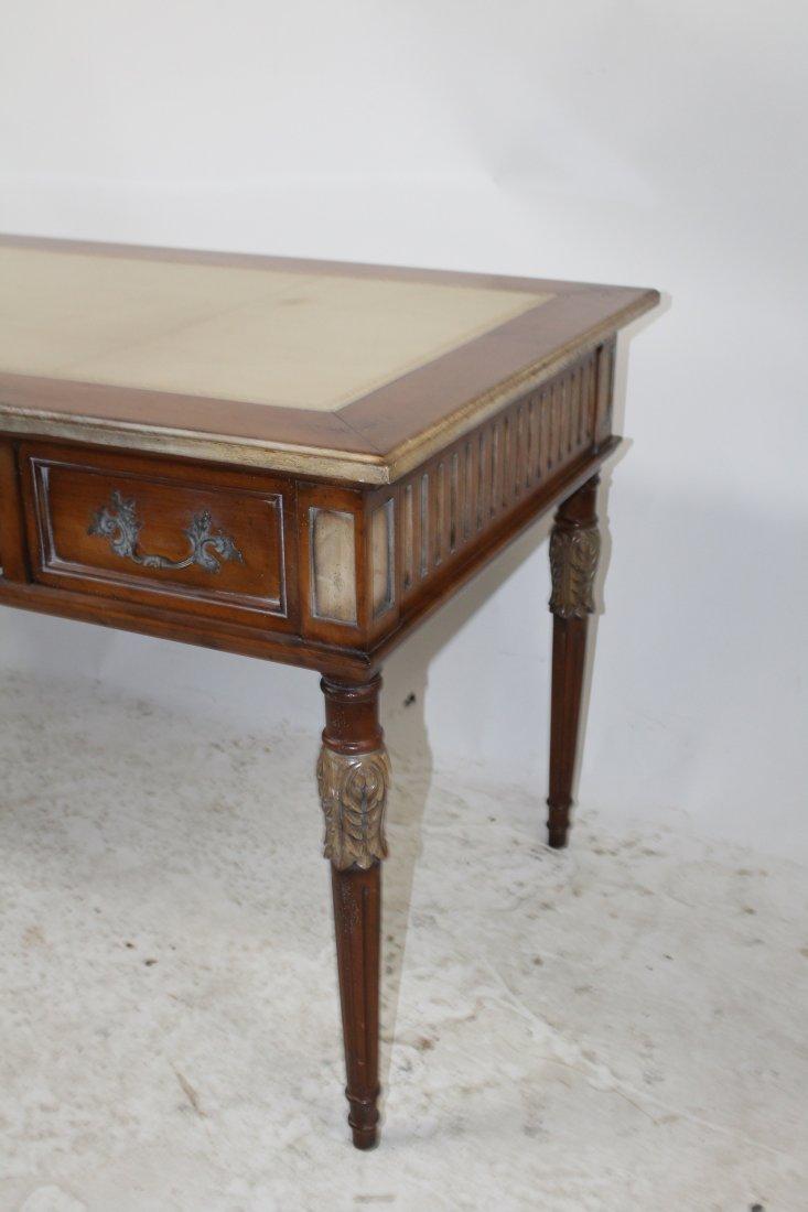 French Heritage Louis XVI style bureauplat desk - 5