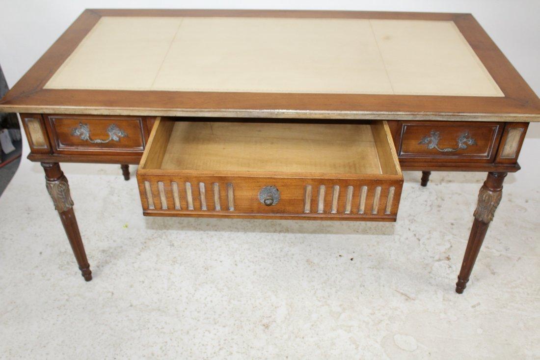 French Heritage Louis XVI style bureauplat desk - 6