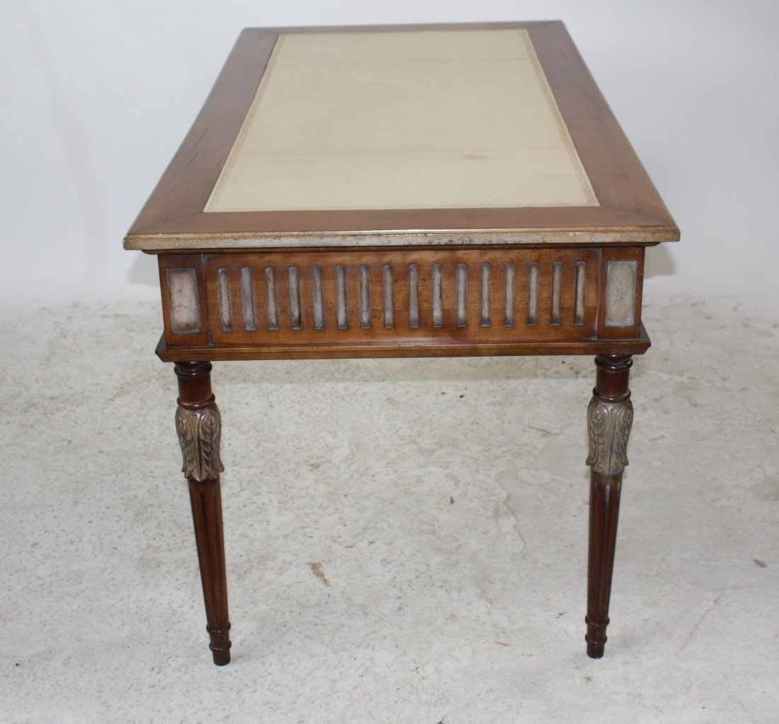 French Heritage Louis XVI style bureauplat desk - 7
