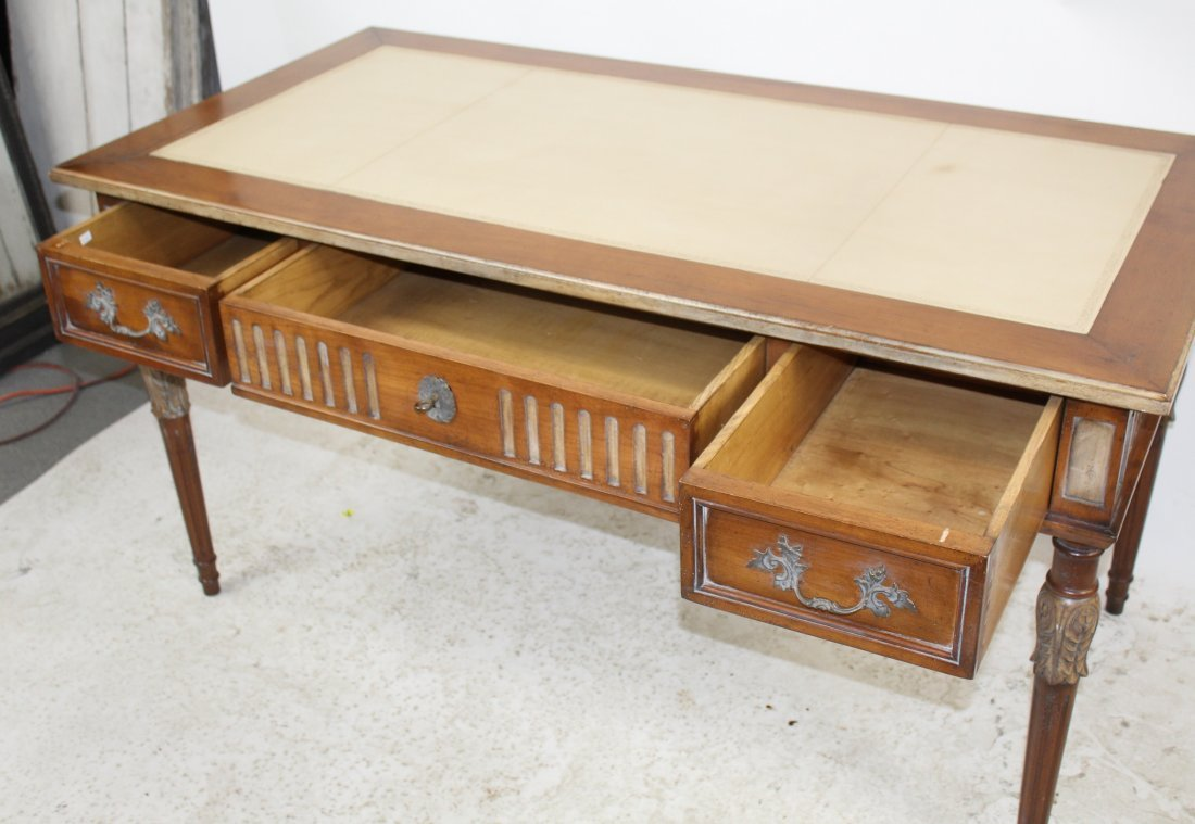 French Heritage Louis XVI style bureauplat desk - 9