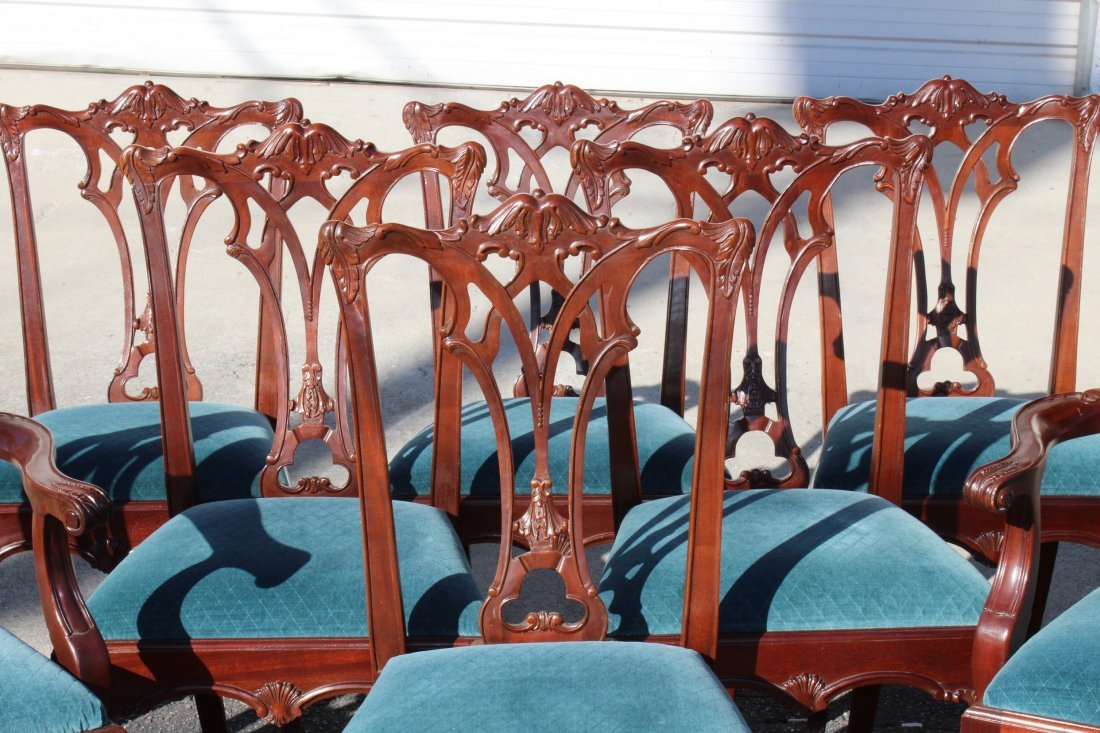 Set of 8 Chippendale style mahogany chairs - 2