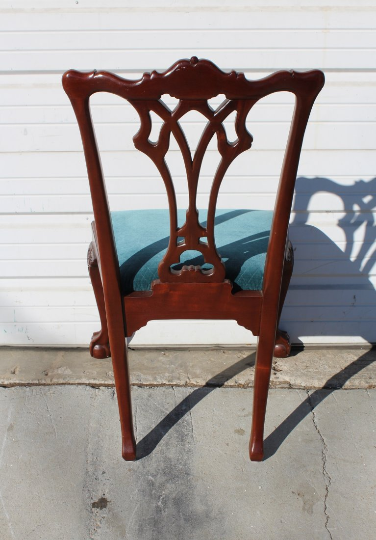 Set of 8 Chippendale style mahogany chairs - 5
