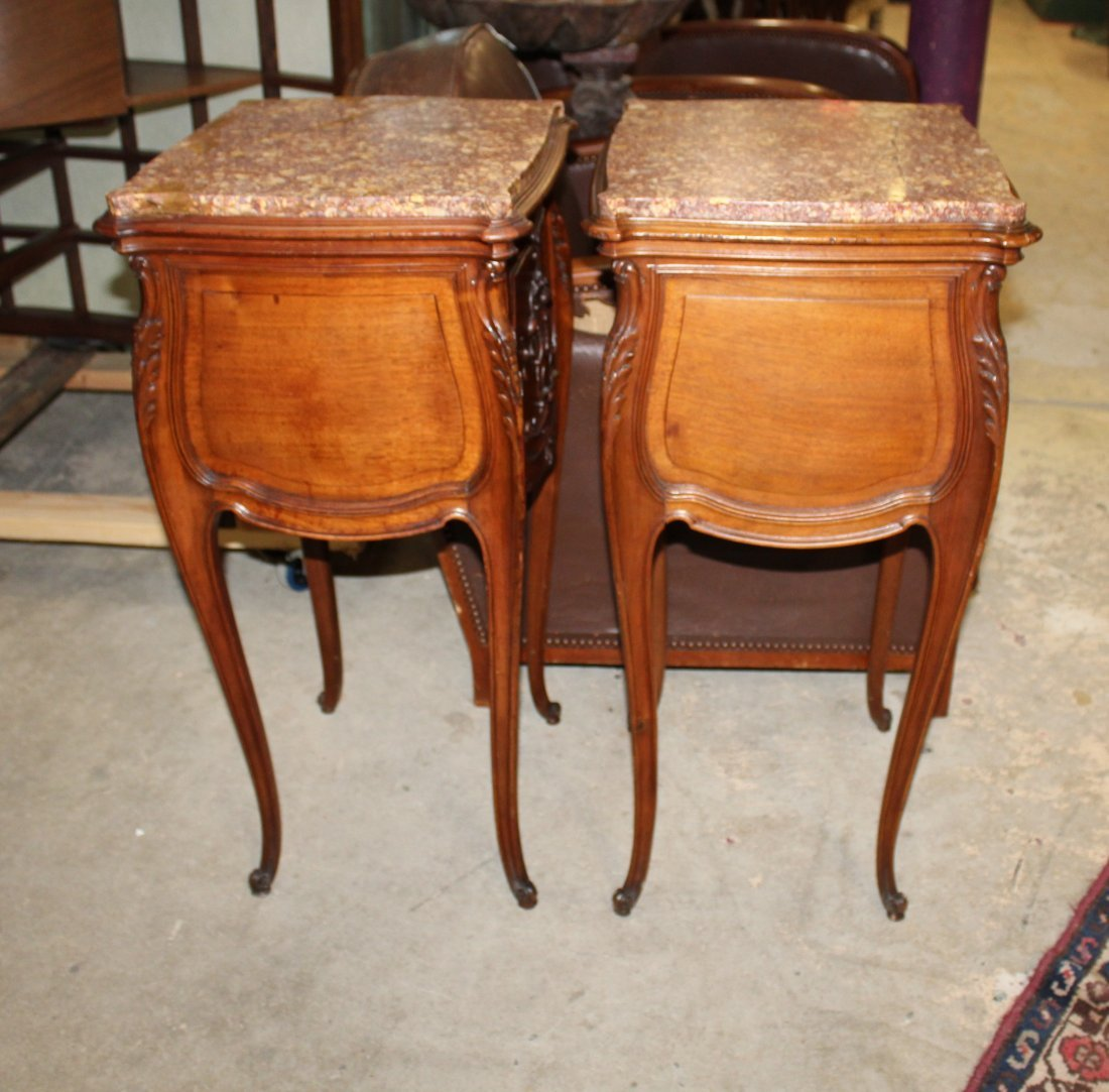 Pair of French Louis XV chevets in walnut - 6