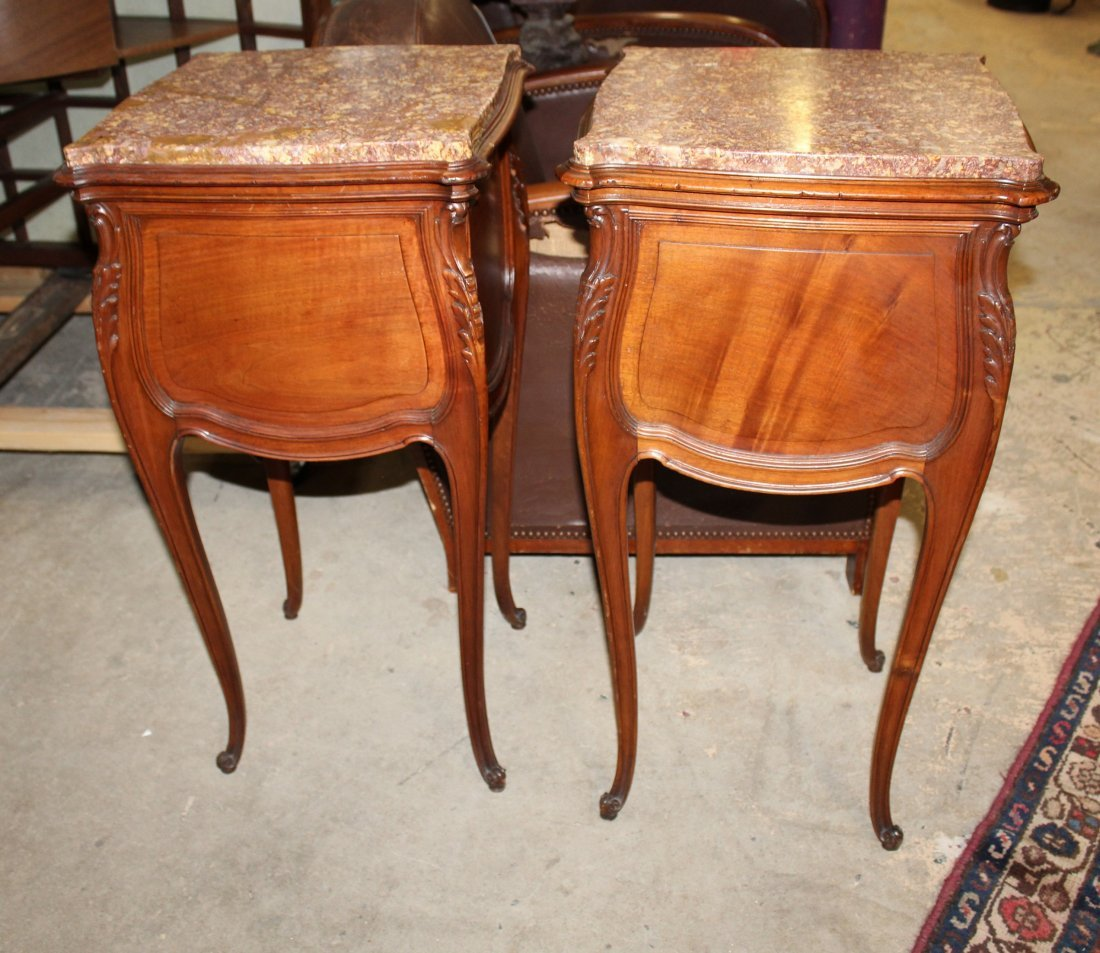 Pair of French Louis XV chevets in walnut - 7