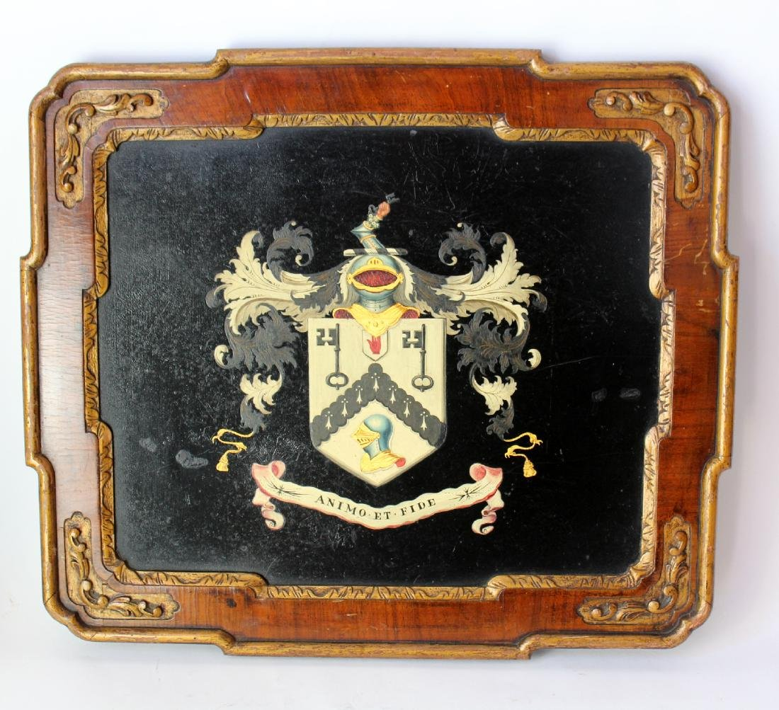 US Army 1st Cavalry Regiment crest painted wood plaque