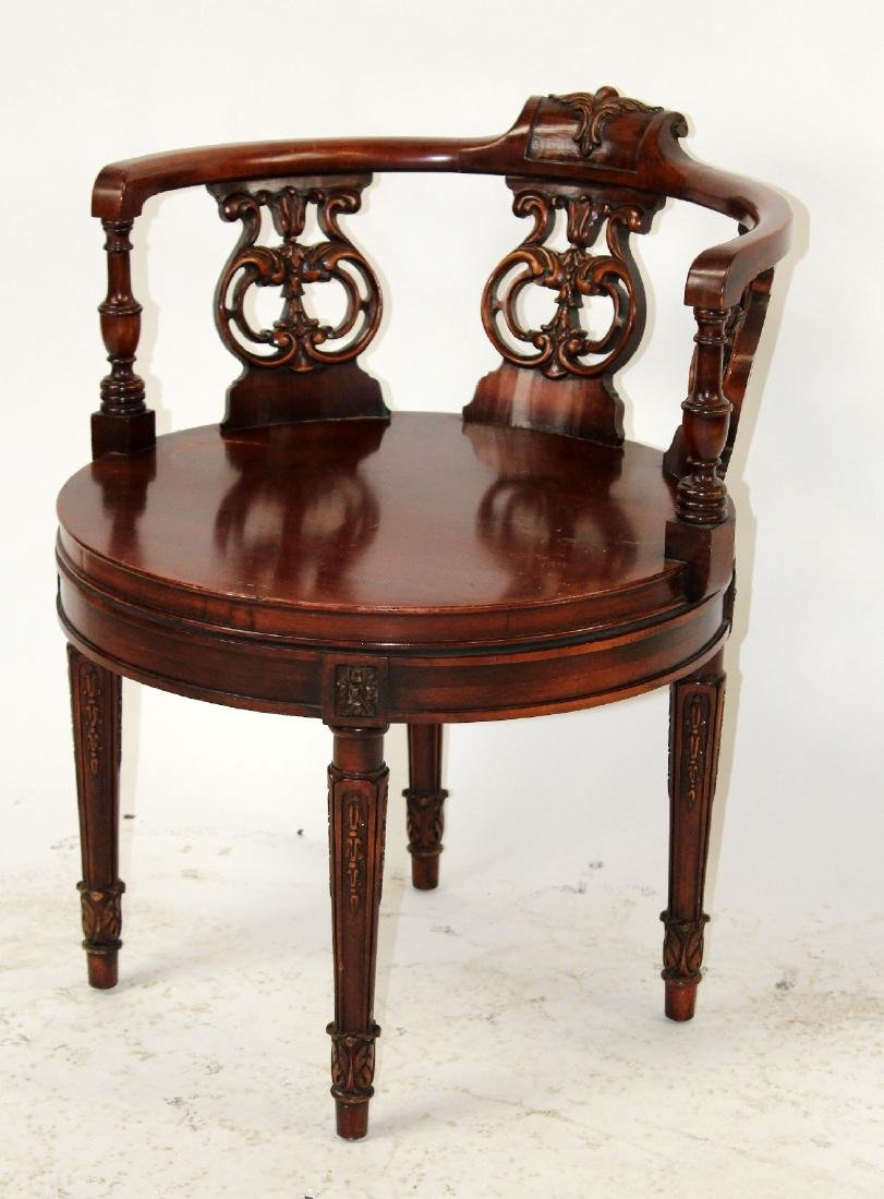 Chinese Chippendale vanity in mahogany - 2