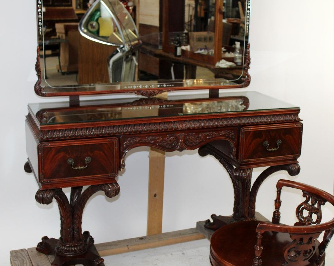 Chinese Chippendale vanity in mahogany - 3