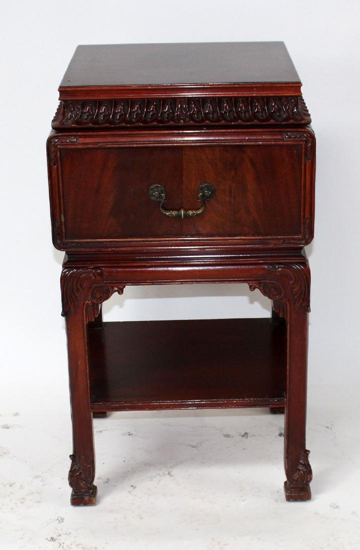 Chinese Chippendale nightstand in mahogany