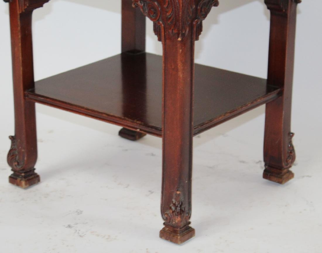 Chinese Chippendale nightstand in mahogany - 7