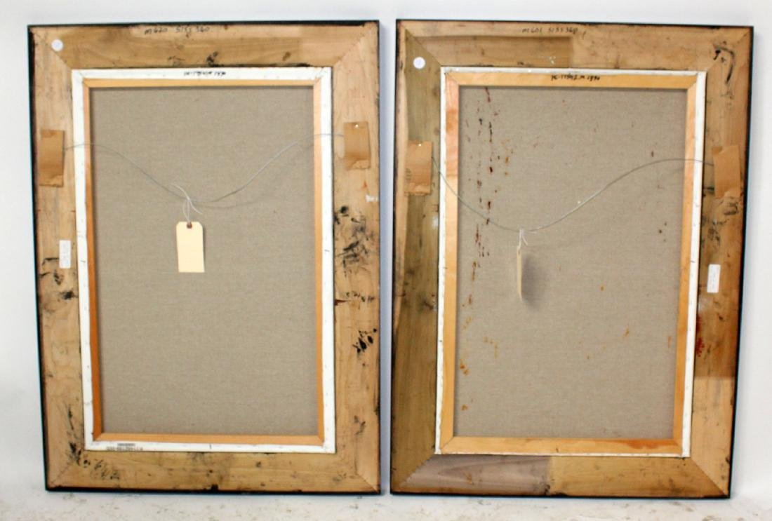 Companion pair of oil on canvas Paris scenes - 2