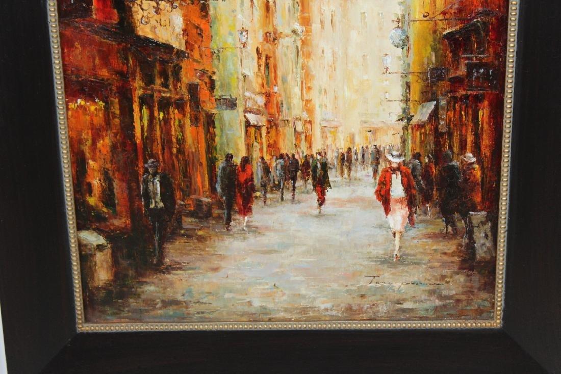 Companion pair of oil on canvas Paris scenes - 5