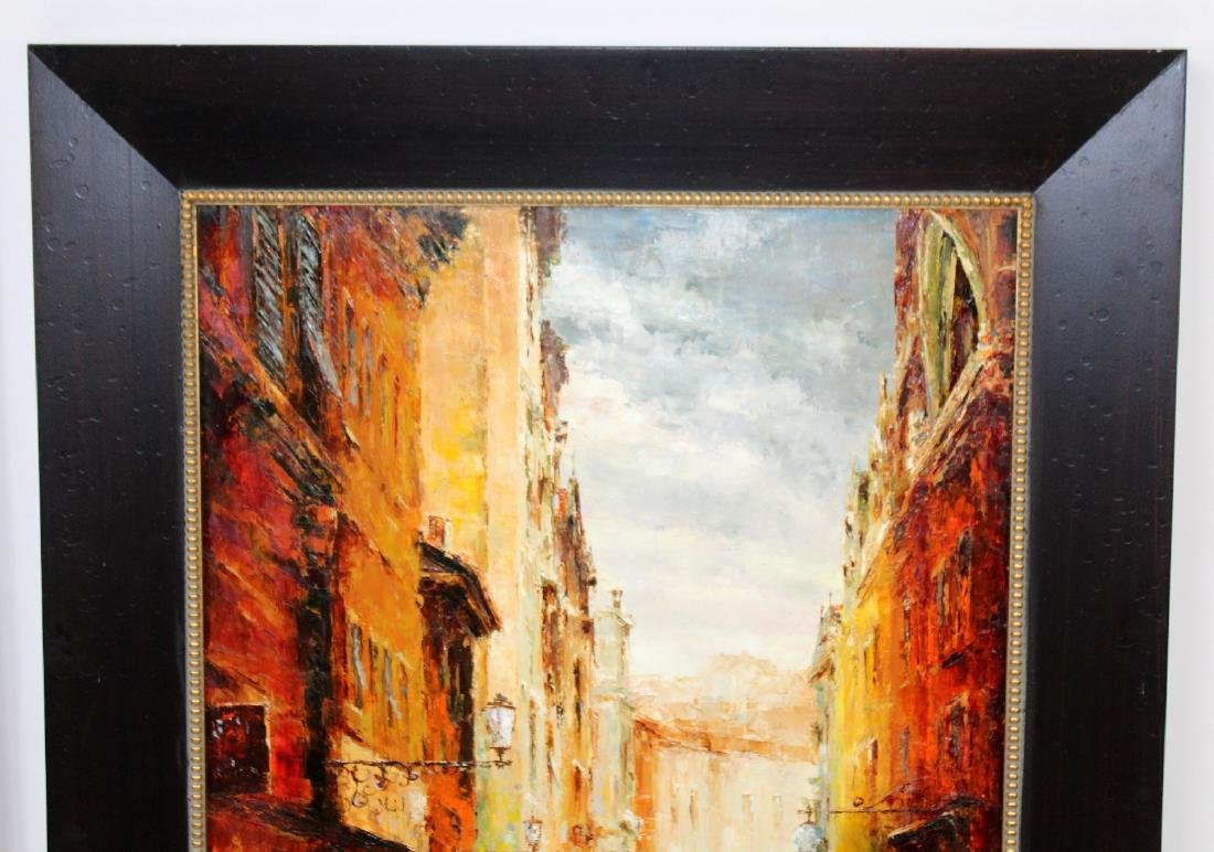 Companion pair of oil on canvas Paris scenes - 6