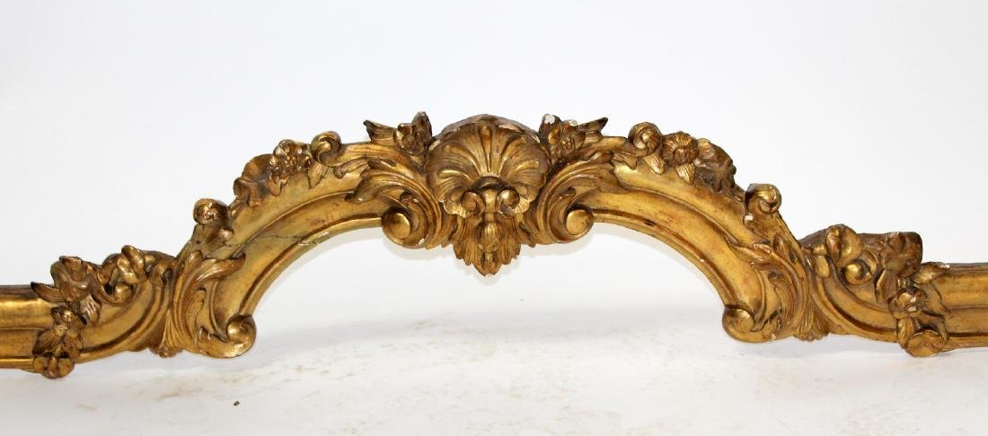 French Louis XV gold leaf valence or overdoor - 3