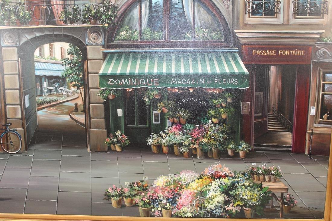 Grand scale oil on canvas Paris street scene - 3