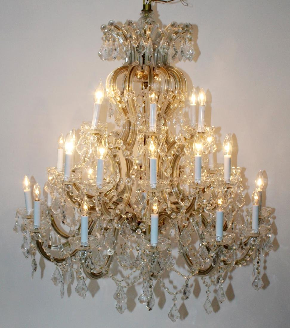 Maria Theresa 30-arm crystal chandelier