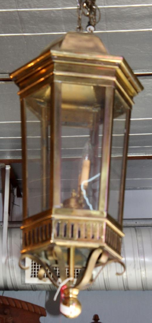 American polished bronze lantern