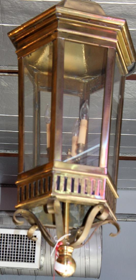American polished bronze lantern - 3