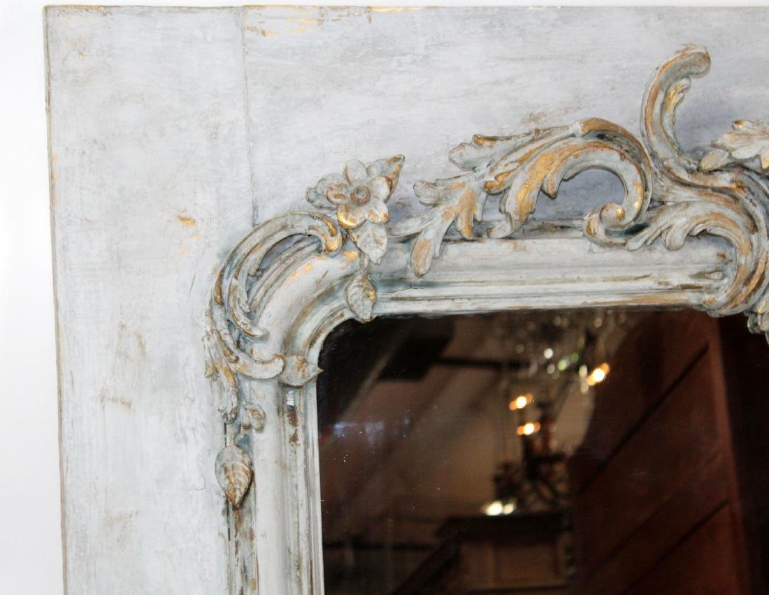 French painted trumeau mirror with cherub - 4
