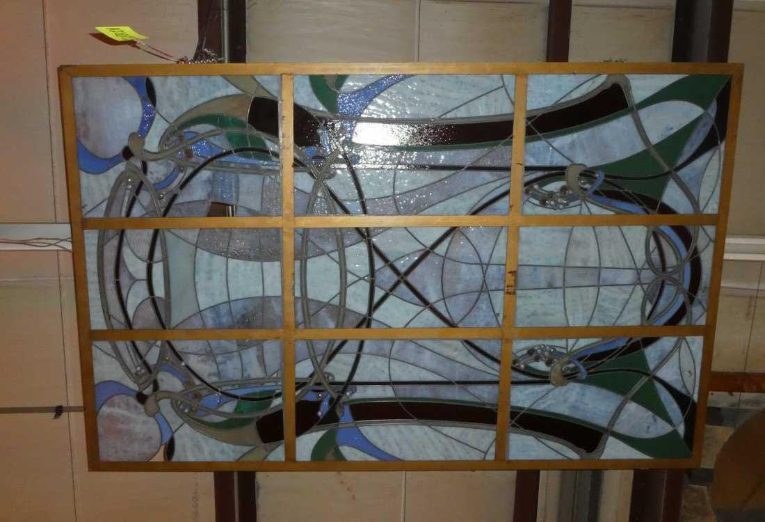Art Nouveau style stained glass ceiling