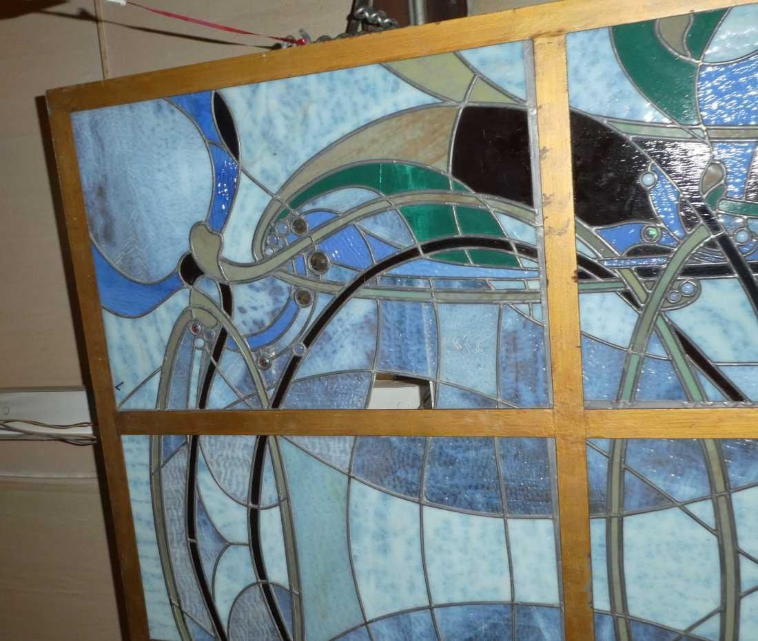 Art Nouveau style stained glass ceiling - 2