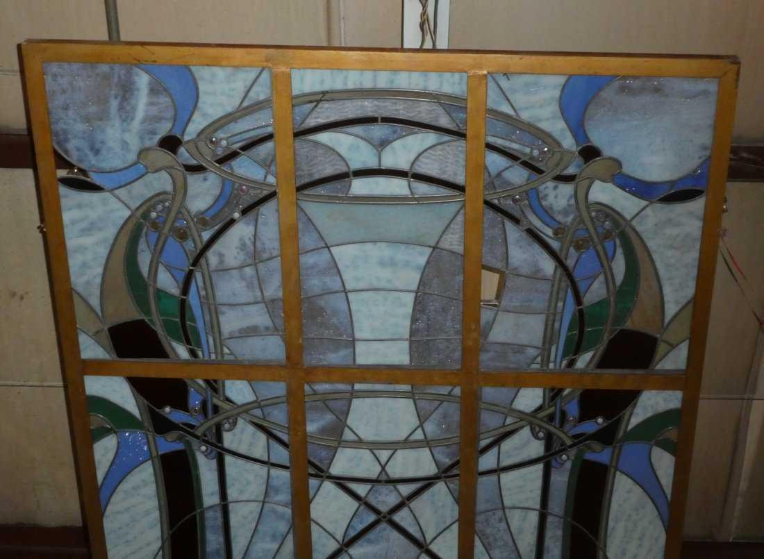 Art Nouveau style stained glass ceiling - 3