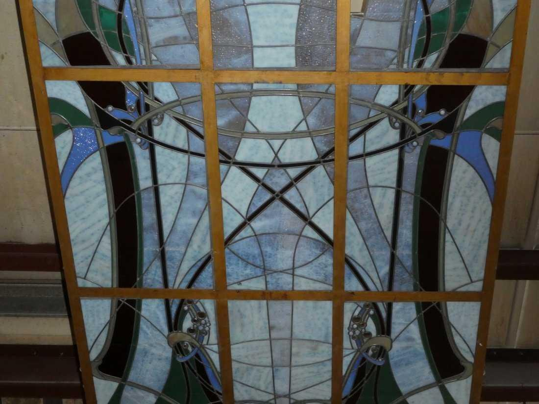 Art Nouveau style stained glass ceiling - 4