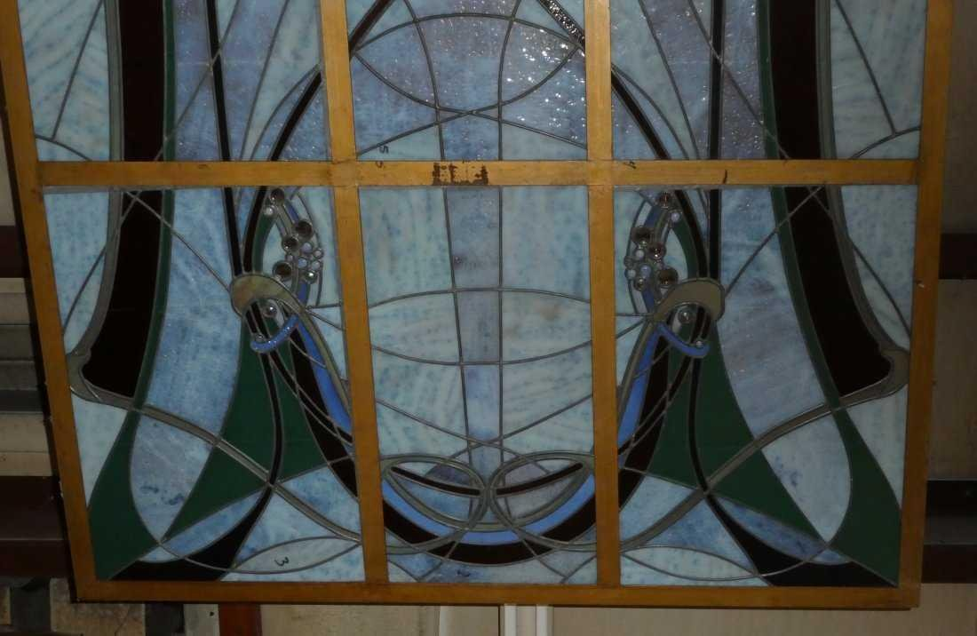 Art Nouveau style stained glass ceiling - 5