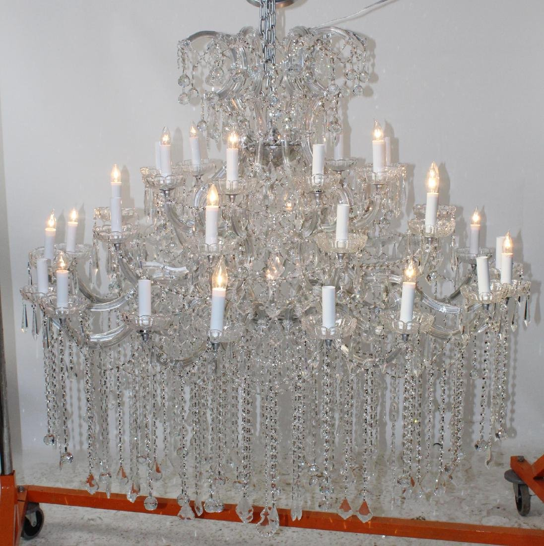 36 Light grand scale crystal chandelier - 3